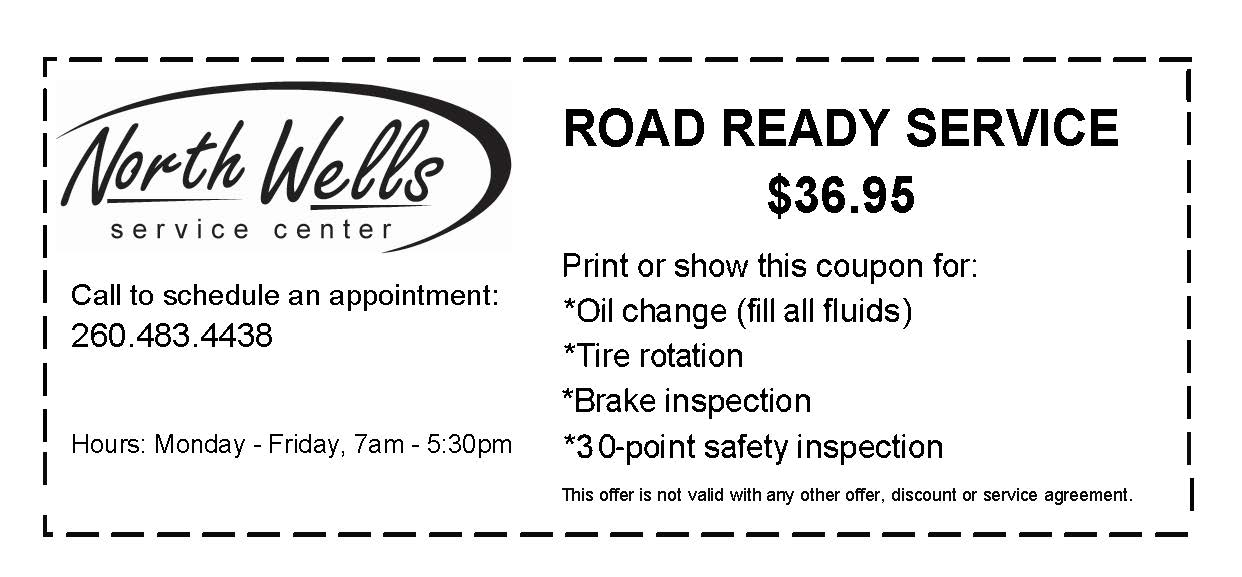 Road Ready Service only $36.95