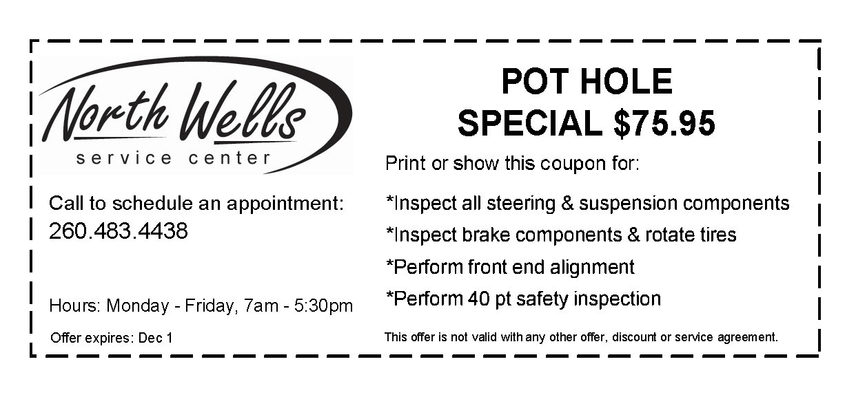 Pot Hole Special only $75.95